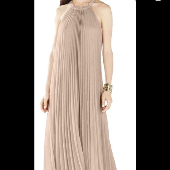 BCBGMAXAZRIA Womens Long Pleated Dress